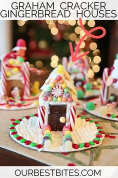 Easy kids activity Graham Cracker houses! Gingerbread houses are a favorite holiday tradition but this version is so much easier! #OurBestBites #GingerbreadHouses #GingerBread #KidsActivities #HolidayCrafts