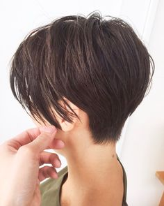 Pin on ショートヘア (Short hair) Short Choppy Hair, Asian Short Hair, Short Hair Cuts, Small Face Hairstyles, Permed Hairstyles, Medium Hair Cuts, Medium Hair Styles, Elegant Short Hair, Waterfall Hairstyle