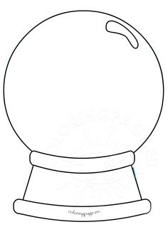 Printable Snow Globe Coloring Page
