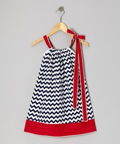 Another great find on #zulily! Navy Zigzag Swing Dress - Infant, Toddler & Girls #zulilyfinds