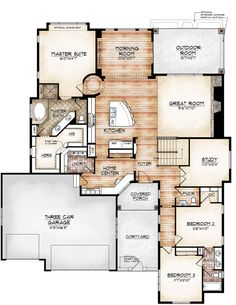 avon model by sopris homes main level plan