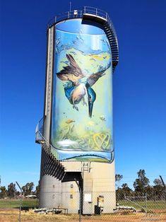 Grafitti Street, Graffiti, Street Mural, Western Australia, Australia Travel, Anzac Day, Building Art, Australian Art, Water Tower