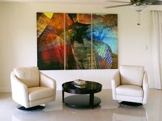 """Abstract Art: """"Winged Guardian Triptych"""" by Scott J. Modern Art, Contemporary Art, Abstract Art, Abstract Paintings, Interior Decorating, Interior Design, Triptych, Art Day, Original Art"""
