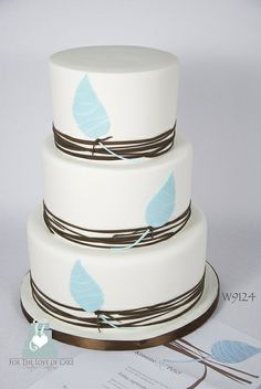 W9124 - simple graphic design wedding cake by www.fortheloveofcake.ca, via Flickr