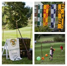 Harry Potter Birthday Party Ideas - Quidditch Game www.spaceshipsandlaserbeams.com