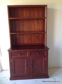 I've just finished this large two piece solid pine buffet and hutch, and I absolutely love it! It is a bit of a departure from my nor...