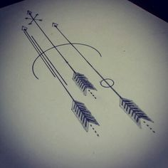 Simple arrow tattoo idea