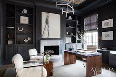 The Best Modern Home Office Design Elements Interior Design Pictures, Salon Interior Design, Home Office Design, Home Office Decor, Interior Decorating, Home Decor, Office Ideas, Masculine Office Decor, Office Inspo