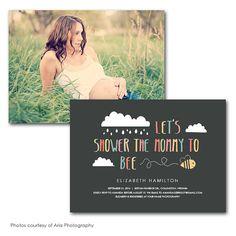 Bee Baby Shower Invitation Digital Printable