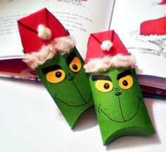 grinch toilet paper roll treat boxes