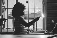 Sparklers | #children #fireworks #cirilmathewphotography #blackandwhite