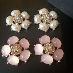 White or Pink Flower gauges plugs earrings #Vintage #jewelry