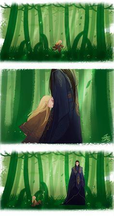 the hobbit The Lord of the Rings legolas legolas greenleaf ADA Thranduil gil galad gil galad and thranduil Fanart, Legolas And Thranduil, Aragorn, Tauriel, Gil Galad, Mirkwood Elves, J. R. R. Tolkien, O Hobbit, Fantasy Illustration