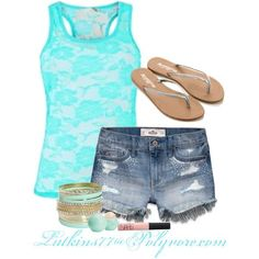 """Cool Summer Outfits With Shorts """"Untitled #120"""" by latkins77 on Polyvore... Check more at http://24shopping.cf/my-desires/summer-outfits-with-shorts-untitled-120-by-latkins77-on-polyvore/"""