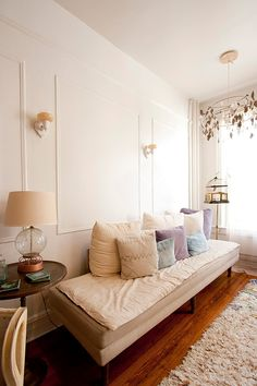 Close up of the other end of the long room. Eclectic living room by Chris A. Living Room New York, Home Living Room, Living Spaces, Office Interior Design, Interior Design Inspiration, Bedroom Inspiration, Interior Ideas, Exterior Design, Small Dressing Rooms