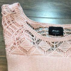 Pink Cropped Crochet Nasty Gal Sweater Super cute pink NWT cropped sweater. Has crochet neck detail. Nasty Gal Sweaters Crew & Scoop Necks