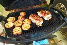 Cooking on my Weber Q-100 and other recipes: Bacon Wrapped chicken breasts with stuffing