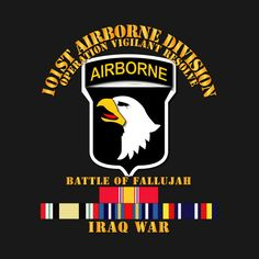 Check out this awesome '101st+Airborne+Div++w+Iraq+Svc+-+Fallujah' design on @TeePublic!