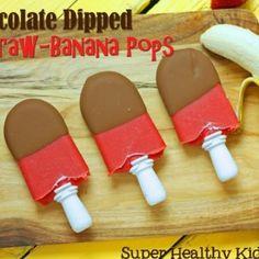 Chocolate Dipped Straw-Banana Pops