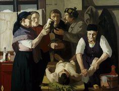 Juho Rissanen - Corpse Washers, 1908 [1024 × 791]