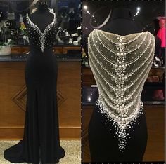 New Design Beading Charming Prom Dresses,The Elegant V-Neck Floor-Length Evening Dresses, Prom Dresses, Real Made Prom Dresses On Sale,