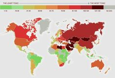 The Most Toxic Country World Map
