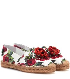mytheresa.com - Embellished Brocade Espadrilles ► Dolce & Gabbana * mytheresa.com - Luxury Fashion for Women / Designer clothing, shoes, bags