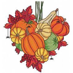 Lickity Stitch - Autumn Heart	Embroidery Designs! A beautiful colorful autumn theme heart machine #crossstitchdesign! This design fits 6x10 and larger hoops.