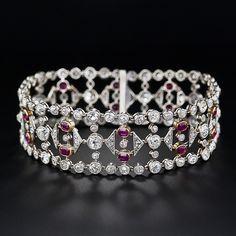 Best Diamond Bracelets : A rare and majestic Belle Epoch bracelet glistening with 12.50 carats of old min