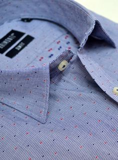 Slim fit little -embroidered- dots shirt.