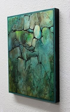 Turquoise Strata, 030417, side_1079 by Carol Nelson ~ x