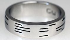 Binary Ring - up to 25 characters message to your computer geek hubby  Unique Wedding Bands for Men   Fox News Magazine