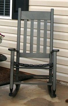 This is a complete set of plans for my favorite Front Porch Rocking Chair. The Rocking Chair Upon Completion Attractive and decorative . White Rocking Chairs, Rocking Chair Plans, Patio Rocking Chairs, Outdoor Chairs, Porch Furniture, Furniture Projects, Home Projects, Wooden Furniture, Woodworking Furniture