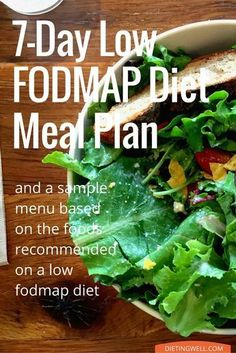 This is a detailed meal plan for a Low FODMAP diet. What to eat, shopping list, what not to eat and a sample FODMAP diet plan and menu for one week...