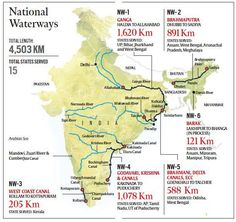 Digging Our Rivers' Graves? India World Map, India Map, Gernal Knowledge, General Knowledge Facts, Indian River Map, Ias Study Material, Geography Map, Teaching Geography, Teaching Government