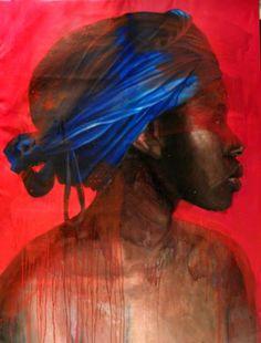 | Roberta Coni - Osas big ,red profile,  cm 140x200