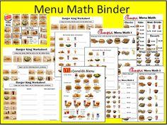Menu Math using fast food menu's!