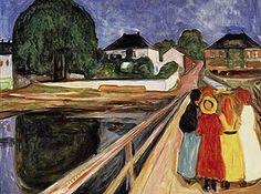 Girls on a Bridge by Edvard Munch