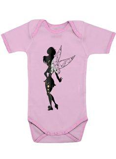 Body Bébé manche courte Fée de Peter  pink - Enfant #art #loujah #cprestige #body #mode #bebe #disney