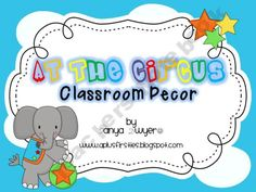 At the Circus Classroom Decor