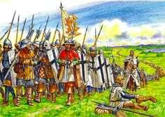 The troops of the Teutonic Order are suitable for Grunwald by V. Praporschik