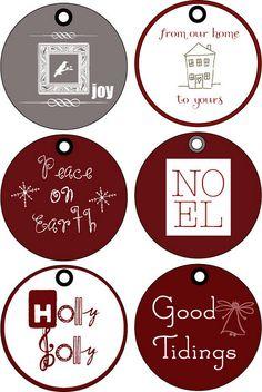 printable christmas gift tags :)