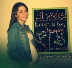 chalkboard pregnancy tracker!