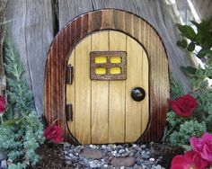 Fairy Door Gnome Door Hobbit Door Elf Door Troll Door by casualee, $16.95 (With the upcoming release of The Hobbit, How could you not love this???)