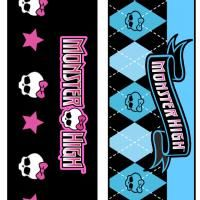 free printable bookmarks Monster High. This site has many other free printables of the same theme