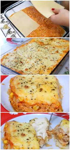 Receita Fácil de Lasanha com Molho branco, uma delícia, super prática! #lasanha #molhobranco #frango #almoço #jantar #receita #gastronomia #culinaria #comida #delicia #receitafacil