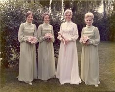 Karen and Bill's 1972 wedding