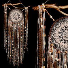 dream catcher dreamcatcher beige dreamcatcher brown American mascots Bohemian handmade wall hanging boho Feather Decor Indian talisman gift by DreamcatcherShopUA on Etsy