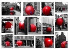The RedBall Project- Kurt Perschke - public art and more interesting street installations Red Balloon, Balloons, Street Installation, House Plants Decor, Wow Art, Art For Art Sake, Mural Art, Teaching Art, Public Art