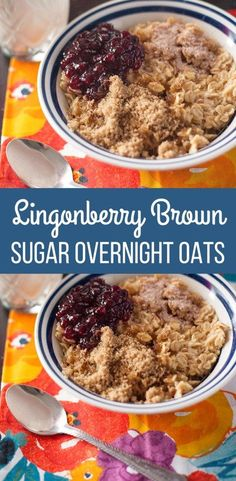 The Ultimate Pinterest Party, Week 146 Lingonberry Brown Sugar Overnight Oats